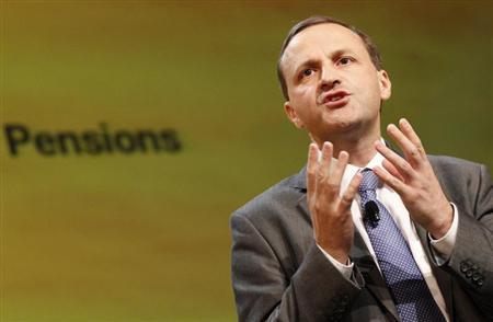 Britain's Minister of Sate for Pensions Steve Webb speaks during the Liberal Democrats annual autumn conference in Birmingham, central England, September 20, 2011. REUTERS/Darren Staples