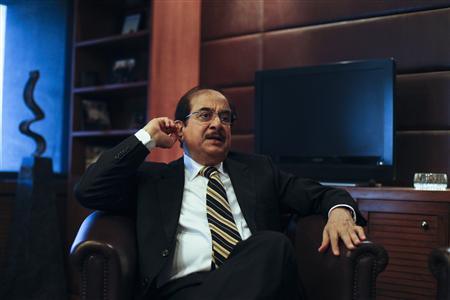 Jahangir Siddiqui, Chairman of JS Bank Ltd, speaks during an interview with Reuters at his office in Karachi January 30, 2013. REUTERS-Akhtar Soomro