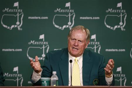Former champion Jack Nicklaus of the U.S. answers a question during a press conference at the 2013 Masters golf tournament at the Augusta National Golf Club in Augusta, Georgia, April 9, 2013. REUTERS/Mark Blinch