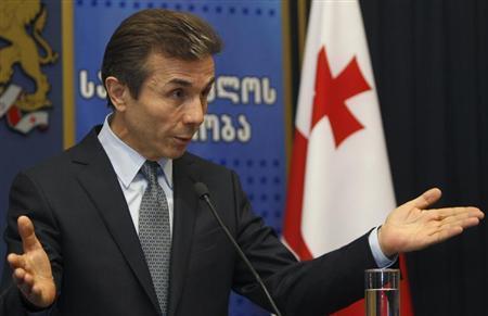 Georgia's Prime Minister Bidzina Ivanishvili speaks to the media after meeting with President Mikheil Saakashvili in Tbilisi, March 4, 2013. REUTERS/David Mdzinarishvili