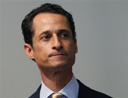 U.S. Rep. Anthony Weiner (D-NY) pauses as he announces that he will resign from the United States House of Representatives during a news conference in Brooklyn, New York, June 16, 2011. REUTERS/Mike Segar
