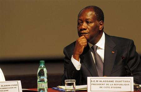 Ivory Coast President Alassane Ouattara attends the sixth joint AU/ECA Conference of African Ministers of Finance and Economic Development in Abidjan March 25, 2013. REUTERS/Thierry Gouegnon