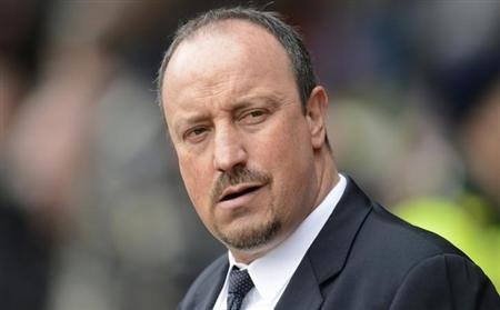 Chelsea's interim manager Rafa Benitez is seen at St. Mary's Stadium in Southampton, England in this March 30, 2013 file photo. REUTERS/Philip Brown/Files