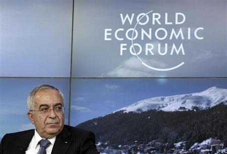 Palestinian Prime Minister Salam Fayyad attends the annual meeting of the World Economic Forum (WEF) in Davos January 25, 2013. REUTERS/Denis Balibouse