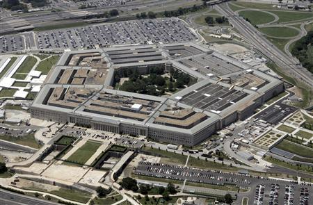 An aerial view of the Pentagon building in Washington, June 15, 2005. RTXNK0I