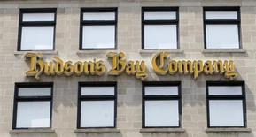 A Hudson's Bay Company sign is seen on a store in downtown Ottawa July 16, 2008. REUTERS/Chris Wattie