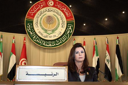 Tunisia's First Lady Leila Ben Ali attends the opening of the 3rd Arab Women's Organization conference in Tunis October 28, 2010. REUTERS/Zoubeir Souissi