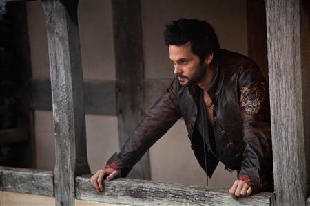 Actor Tom Riley portrays inventor Leonard Da Vinci in a scene from the Starz cable channels new series ''Da Vinci's Demons'' in this undated publicity photograph released to Reuters April 9, 2013. REUTERS/Grace Cromey-Hawke/Courtesy of Starz/Handout
