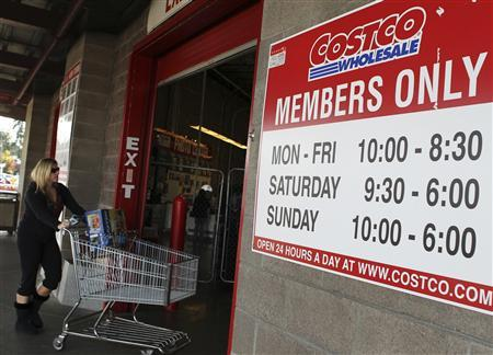 A customer enters a Costco store in Shoreline, Washington in this file photo taken November 3, 2011. REUTERS/Anthony Bolante/Files