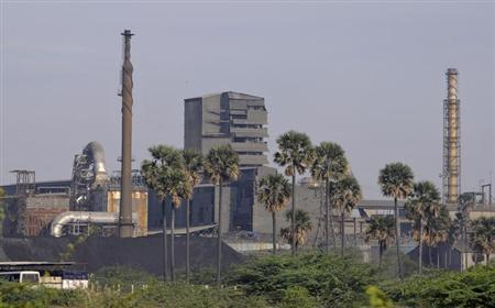 A general view shows Sterlite Industries Ltd's copper plant in Tuticorin, in Tamil Nadu April 5, 2013. REUTERS/Stringer