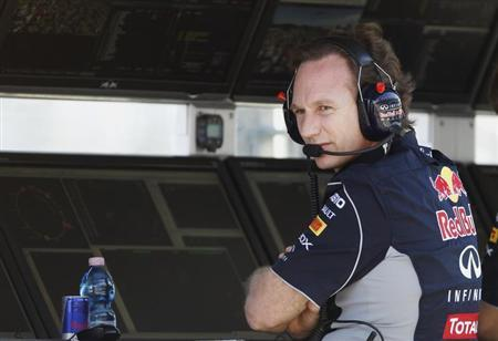 Red Bull Formula One team principal Christian Horner looks on during the second practice session of the Australian F1 Grand Prix at the Albert Park circuit in Melbourne March 15, 2013. REUTERS/Brandon Malone