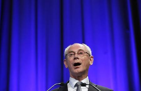 European Council President Herman Van Rompuy delivers a speech during the European Defence Agency annual conference in Brussels March 21, 2013. REUTERS/Francois Lenoir