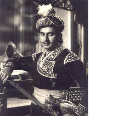 Actor Pran in a still from the Hindi movie 'Aan Baan' taken from www.pransikand.com.
