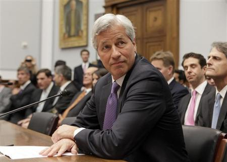 JPMorgan Chase & Co CEO Jamie Dimon testifies before the House Financial Services hearing on ''Examining Bank Supervision and Risk Management in Light of JPMorgan Chase's Trading Loss'' on Capitol Hill in Washington June 19, 2012. REUTERS/Yuri Gripas