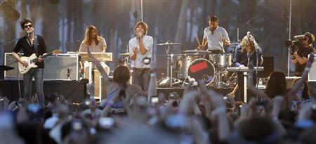 Alternative rock band ''Phoenix'' performs at the Coachella Music Festival in Indio, California April 18, 2010. REUTERS/Mario Anzuoni