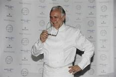 French chef Alain Ducasse poses before to the anniversary evening celebrating the 25 years of the restaurant Le Louis XV in Monaco November 17, 2012. REUTERS/Jean-Pierre Amet