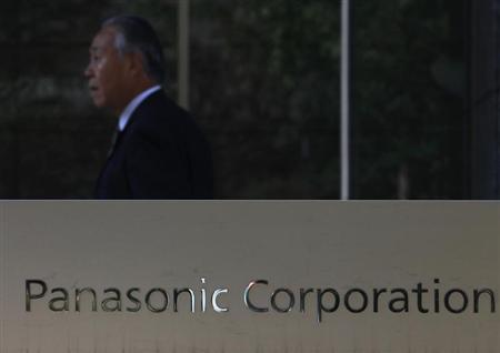 Panasonic Corp's logo is pictured outside the company's showroom in Tokyo November 1,2012. REUTERS/Yuriko Nakao