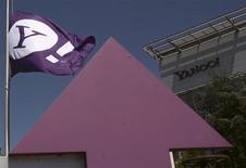 Le siège de Yahoo à Sunnyvale, en Californie. Le groupe a annoncé mardi un chiffre d'affaires net inchangé au premier trimestre, les revenus publicitaires du portail internet reculant pour le deuxième trimestre de suite. /Photo prise le 16 avril 2013/REUTERS/Robert Galbraith