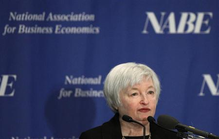 Federal Reserve Vice Chair Janet Yellen addresses the 29th National Association for Business Economics Policy Conference in Washington March 4, 2013. REUTERS/Gary Cameron
