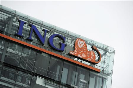 The logo of ING is pictured at the headquarters in Amsterdam July 16, 2012. REUTERS/Robin van Lonkhuijsen/United Photos