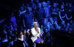 Scottish singer Emeli Sande performs during the Echo music awards ceremony in Berlin, March 21, 2013. Picture taken March 21, 2013. REUTERS/Markus Schreiber/Pool