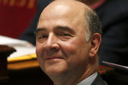 French Finance Minister Pierre Moscovici attends the questions to the government session at the National Assembly in Paris April 9, 2013. REUTERS/Charles Platiau
