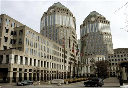 Procter & Gamble's corporate headquarters is seen in Cincinnati, Ohio, January 28, 2005. - RTXN7IU