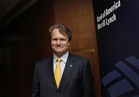 Bank of America Chief Executive Brian Moynihan poses during an interview in Hong Kong March 8, 2013. REUTERS/Bobby Yip