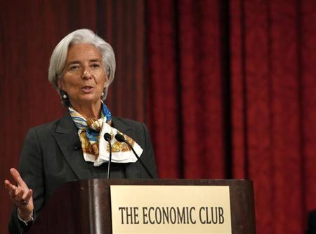 International Monetary Fund (IMF) Managing Director Christine Lagarde speaks to the Economic Club of New York in New York, April 10, 2013. REUTERS/Brendan McDermid