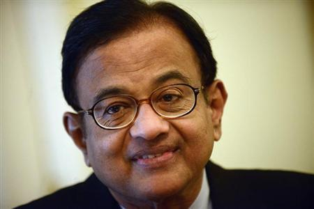 Finance Minister Palaniappan Chidambaram speaks during a news conference in New York, April 17, 2013. REUTERS/Keith Bedford