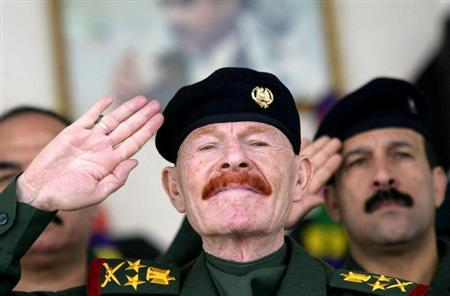 File picture of Izzat Ibrahim al-Douri, who had been the most senior aide to Saddam Hussein, dated September 5, 2004. - REUTERS