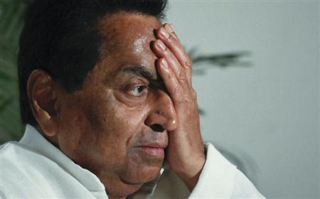 Kamal Nath reacts to a question during an interview with Reuters in New Delhi June 17, 2011. REUTERS/Adnan Abidi