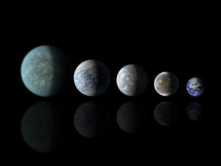 Relative sizes of Kepler habitable zone planets discovered as of April 18, 2013 in this artist's rendition provided by NASA. REUTERS/NASA Amers/JPL-Caltech/Handout
