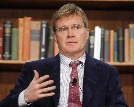 Jim Davidson, Co-Founder and Chairman of Silver Lake, speaks at a panel discussion ''Private Equity: Where Risk Meets Opportunity'' at the 2009 Milken Institute Global Conference in Beverly Hills, California April 28, 2009. REUTERS/Fred Prouser