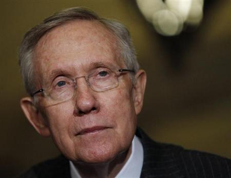 Senate Majority Leader Harry Reid (D-NV) holds a news conference on Capitol Hill in Washington April 9, 2013. REUTERS/Gary Cameron