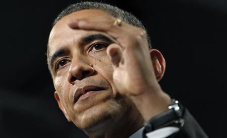 U.S. President Barack Obama speaks in Chicago, Illinois February 15, 2013. REUTERS/Kevin Lamarque