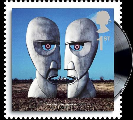A to-be-released 2010 Royal Mail stamp of the cover of Pink Floyd's album The Division Bell is seen in this handout. REUTERS/Royal Mail/Handout