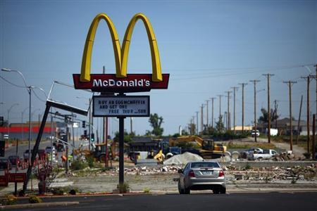 Construction work is seen as it continues in Joplin, Missouri May 17, 2012. REUTERS/Eric Thayer