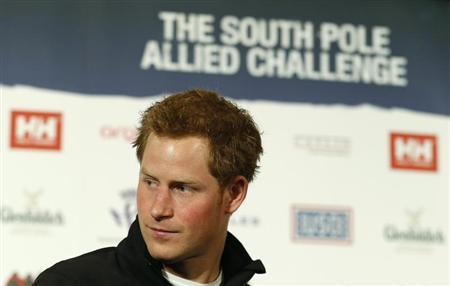 Britain's Prince Harry attends the launch of the Walking with the Wounded South Pole Allied Challenge 2013, in London April 19, 2013. REUTERS/Suzanne Plunkett