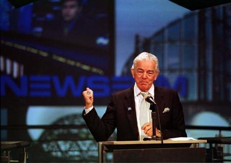 USA Today founder Al Neuharth speaks at the opening of the ''Newseum'' in Arlington, April 18. NEWSEUM - RTR35OR