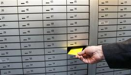 Safe deposit boxes are pictured in a bank in the western Austrian city of Hall in Tirol April 8, 2013. REUTERS/ Dominic Ebenbichler