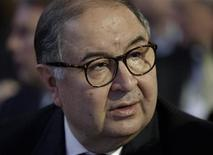 Russia's richest man Alisher Usmanov attends the annual meeting of the World Economic Forum (WEF) in Davos January 23, 2013. REUTERS/Denis Balibouse