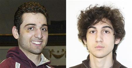 Tamerlan Tsarnaev (L), 26, is pictured in 2010 in Lowell, Massachusetts, and his brother Dzhokhar Tsarnaev, 19, is pictured in an undated FBI handout photo in this combination photo. The two are suspects in the April 15, 2013 bombing at the Boston Marathon. REUTERS/The Sun of Lowell, MA/FBI/Handout