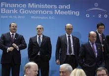 Finance ministers and central bank governors from the G20 arrive for a family photo during the 2013 Spring Meeting of the International Monetary Fund and World Bank in Washington, April 19, 2013. REUTERS/Yuri Gripas