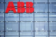 A logo of Swiss engineering group ABB is seen on a building in Zurich February 14, 2013. REUTERS/Michael Buholzer