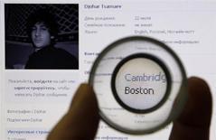 Страница в соцсети Вконтакте пользователя Djohar Tsarnaev, который предположительно является Джохаром Царнаевым, подозреваемым в организации взрывов во время Бостонского марафона. Фотография сделана в Санкт-Петербурге 19 апреля 2013 года. Федеральные прокуроры подготовили обвинение против этнического чеченца, подозреваемого в унесших жизни взрывах на Бостонском марафоне. Пойманный два дня назад в результате масштабной спецоперации 19-летний студент колледжа Джохар Царнаев тяжело ранен, неспособен говорить и находится в палате под вооруженной охраной. REUTERS/Alexander Demianchuk