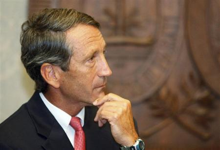South Carolina Governor Mark Sanford pauses as he addresses the media at a news conference at the State House in Columbia, South Carolina September 10, 2009. REUTERS/Joshua Drake