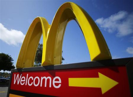 A McDonald's restaurant sign is seen at a McDonald's restaurant in Del Mar, California April 16, 2013. McDonald's Corp will announce its earnings on April 19. REUTERS/Mike Blake
