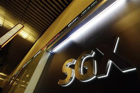 The logo of the Singapore Exchange (SGX) is pictured at its office in Singapore July 25, 2012. REUTERS/Tim Chong/Files
