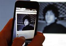 Страница пользователя Djohar Tsarnaev в соцсети Вконтакте, который предположительно является Джохаром Царнаевым, подозреваемым в организации взрывов во время Бостонского марафона. Фотография сделана в Санкт-Петербурге 19 апреля 2013 года. Джохару Царнаеву в понедельник были предъявлены официальные обвинения в совершении взрывов в Бостоне, которые грозят находящемуся в больнице 19-летнему чеченцу смертной казнью. REUTERS/Alexander Demianchuk